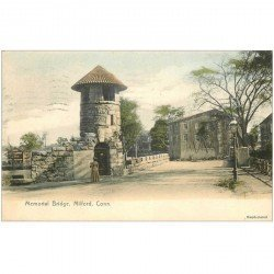 carte postale ancienne MILFORD. Memorial Bridge 1908