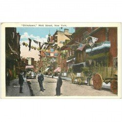 carte postale ancienne NEW YORK CITY. Chinatown Mott Strett