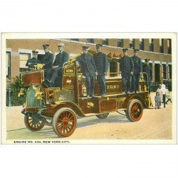 carte postale ancienne NEW YORK CITY. Engine Fire n° 239. Voiture de Sapeurs Pompiers