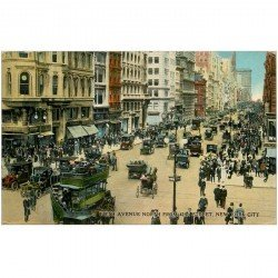 carte postale ancienne NEW YORK CITY. Fifth Avenue North 42nd Street
