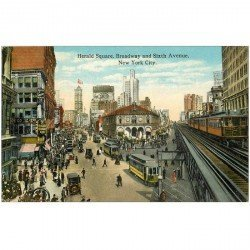 carte postale ancienne NEW YORK CITY. Herald Square Broadway and Sixth Avenue. Metropolitain