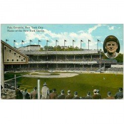 carte postale ancienne NEW YORK CITY. Polo Grounds Home of the New York Giants