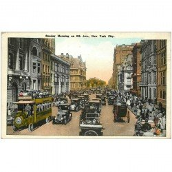carte postale ancienne NEW YORK CITY. Sunday Morning on 5th Avenue