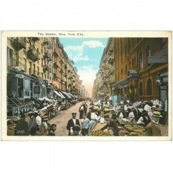 carte postale ancienne NEW YORK CITY. The Getto