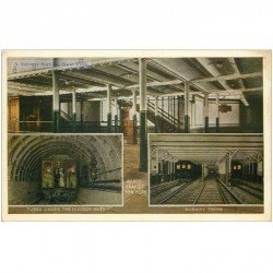 carte postale ancienne NEW YORK. A Subway Station Trains