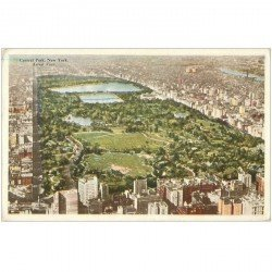 carte postale ancienne NEW YORK. Central Park aerial View