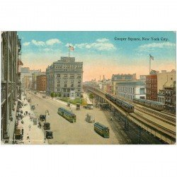 carte postale ancienne NEW YORK. Cooper Square