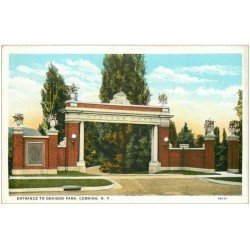 carte postale ancienne NEW YORK. Entrance to Denison Park Corning