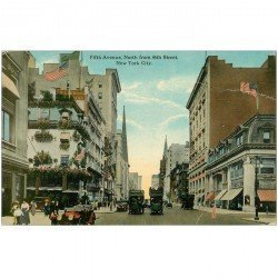 carte postale ancienne NEW YORK. Fifth Avenue North from 46 th Street. Rainures...