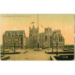carte postale ancienne NEW YORK. Main Building City College 1912