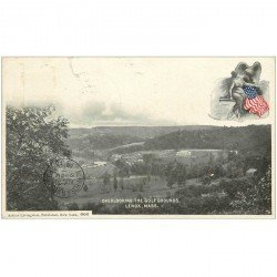 carte postale ancienne NEW YORK. Overlooking the Golf Grounds Lenox Mass. 1903