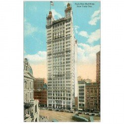 carte postale ancienne NEW YORK. Park Row Building