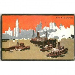 carte postale ancienne NEW YORK. Skyline