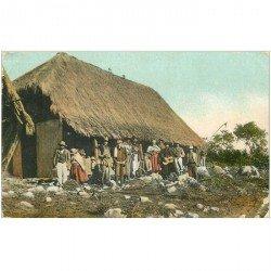 carte postale ancienne BOLIVIE BOLIVIA. Groupe de Paysans Chanteurs et Explorateurs.