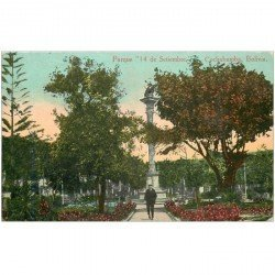 carte postale ancienne BOLIVIE BOLIVIA. Parque 14 Setiembre Cochabamba