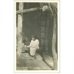 carte postale ancienne BRESIL. Rare Misiones. Joven Guarani