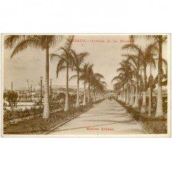 carte postale ancienne CUBA. Habana Avenida de las Missiones. Missions Avenue
