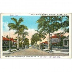 carte postale ancienne PANAMA. Mariana Arosemena Avenue bella vista