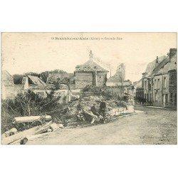 carte postale ancienne 02 NEUFCHATEL-SUR-L'AISNE. Garçons sur Grande Rue 1922