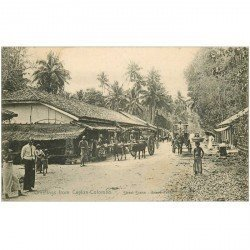 carte postale ancienne INDE. Ceylan Ceylon Colombo. Street Scene Grand Pass