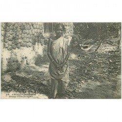 carte postale ancienne INDE. Chandernagor une Jeune Fille Bengali