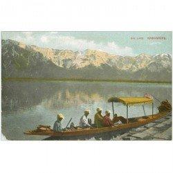 carte postale ancienne INDE. Dal Lake Kashmere (dédaut coin gauche)...