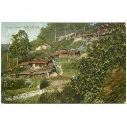 carte postale ancienne INDE. Darjeeling native Village of tea