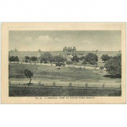 carte postale ancienne INDE. Delhi. A general view of Fort