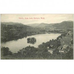 carte postale ancienne INDE. Kandy from Lady Horton's Walk