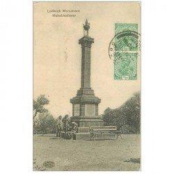 carte postale ancienne INDE. Mahableshwar Lodwick Monument 1918 (petite usure coins)...