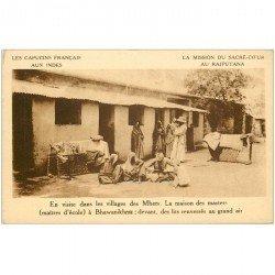 carte postale ancienne INDE. Maison des masters à Bhawanikhea Village Mhers au Rajputana