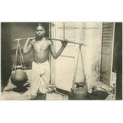 carte postale ancienne INDE. Mali Porteur d'eau