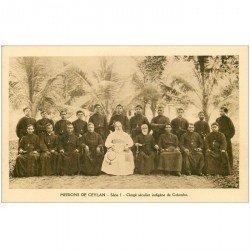 carte postale ancienne INDE. Missions Ceylan Ceylon. Clergé séculier indigène de Colombo