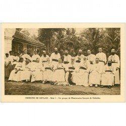 carte postale ancienne INDE. Missions Ceylan Ceylon. Groupe de Missionnaires français de Colombo