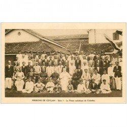 carte postale ancienne INDE. Missions Ceylan Ceylon. La Presse catholique de Colombo