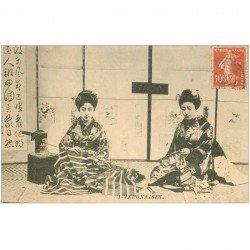 carte postale ancienne JAPON. Japonaises GaIshas 1910