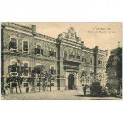 carte postale ancienne LIBAN LIBANO. Palais du Gouvernement 1925 avec fiacres