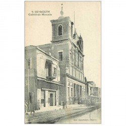 carte postale ancienne Liban Syrie. BEYROUTH. Cathédrale Maronite