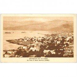 carte postale ancienne Liban Syrie. BEYROUTH. Et le Mont Sannine