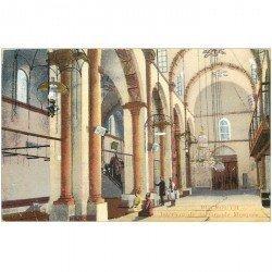 carte postale ancienne Liban Syrie. BEYROUTH. Grande Mosquée intérieur