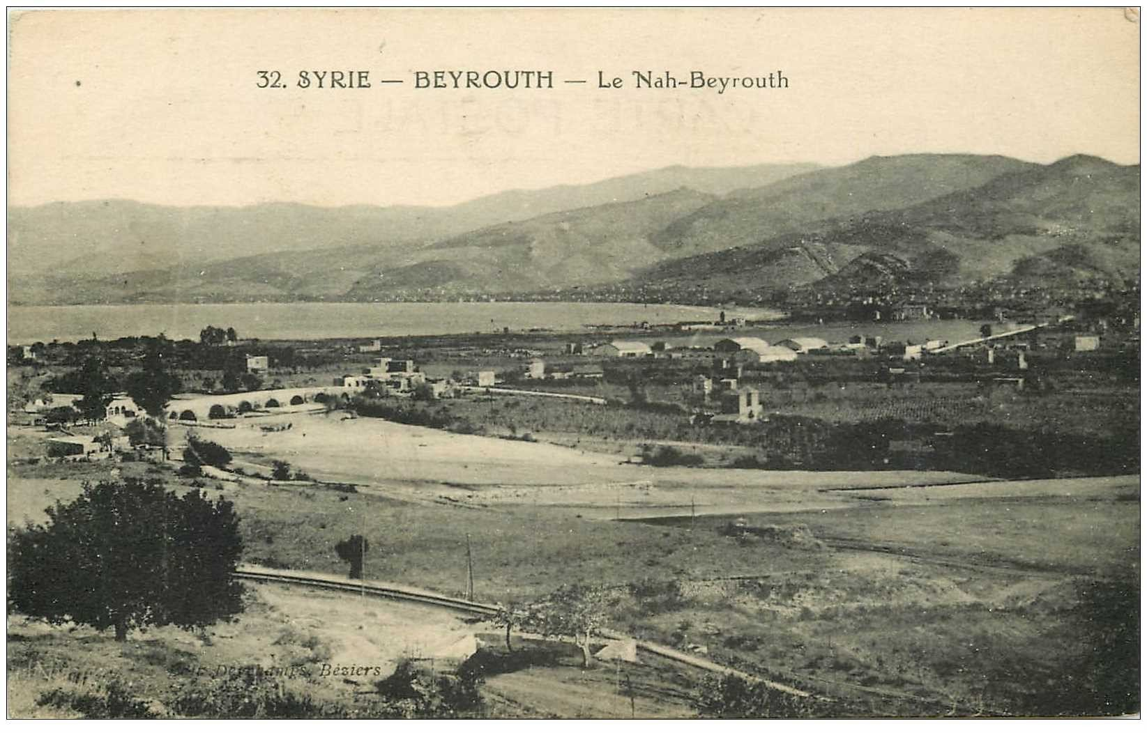 carte postale ancienne Liban Syrie. BEYROUTH. Le Nah Beyrouth