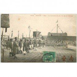 carte postale ancienne VIET NAM. Annam Hué. Le Cavalier du Roi 1907