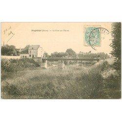 carte postale ancienne 02 NEUFCHATEL-SUR-L'AISNE. Pont 1906