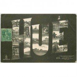 carte postale ancienne VIET NAM. Hué multivue fantaisie 1906
