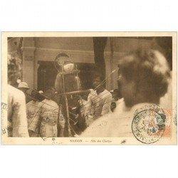 carte postale ancienne VIET NAM. Saigon. Fête des cheffys. Edition Nadal vers 1944