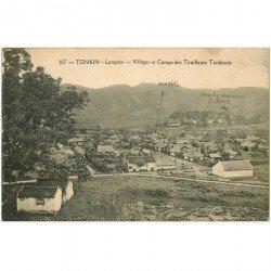 carte postale ancienne VIET NAM. Tonkin Langson. Villages et Camps de Tirailleurs Tonkinois