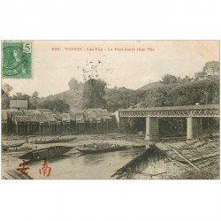 carte postale ancienne VIET NAM. Tonkin Lao Kay. Le Pont sur le Nam Thi 1908