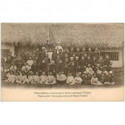 carte postale ancienne VIET NAM. Tonkin. Prêtre tonkinois missionnaires et fanfare paroissiale