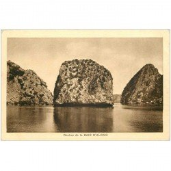 carte postale ancienne VIET-NAM. Baie d'Along les Roches