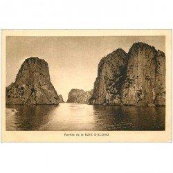 carte postale ancienne VIET-NAM. Baie d'Along Roches